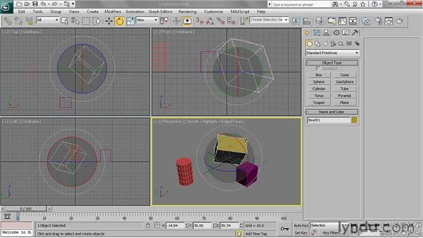 Transforming objects: 3ds Max 2011 Essential Training