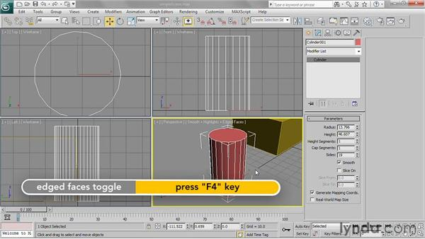 Using the Modify panel: 3ds Max 2011 Essential Training
