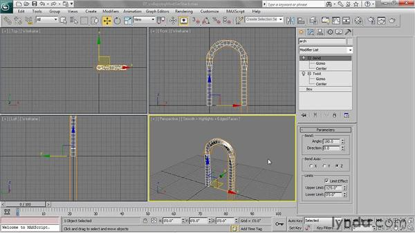 Collapsing the Modifier Stack: 3ds Max 2011 Essential Training