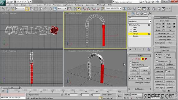 Working with sub-objects: 3ds Max 2011 Essential Training