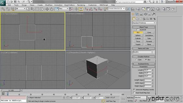 Creating shapes: 3ds Max 2011 Essential Training