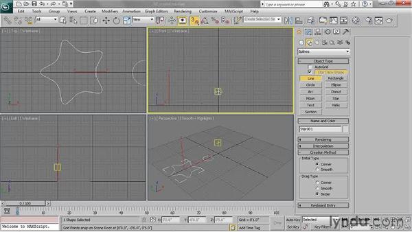Creating lines: 3ds Max 2011 Essential Training