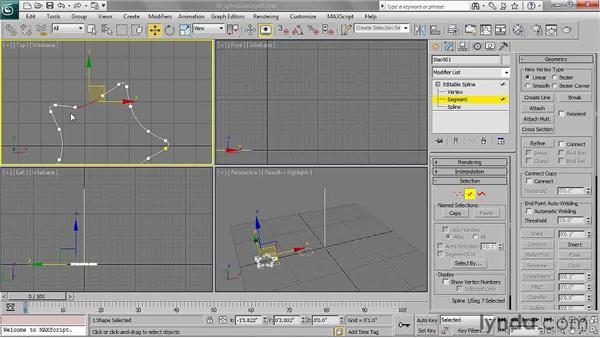 Transforming editable spline sub-objects: 3ds Max 2011 Essential Training