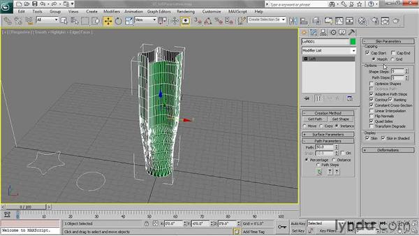 Setting loft parameters: 3ds Max 2011 Essential Training