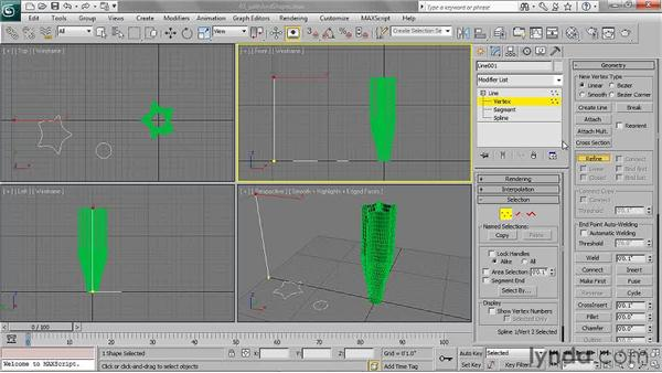 Editing the path and shapes: 3ds Max 2011 Essential Training