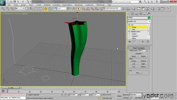 Manipulating loft sub-objects: 3ds Max 2011 Essential Training