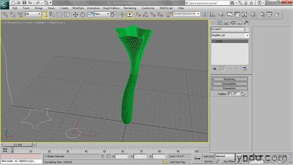 Adding a shell modifier: 3ds Max 2011 Essential Training