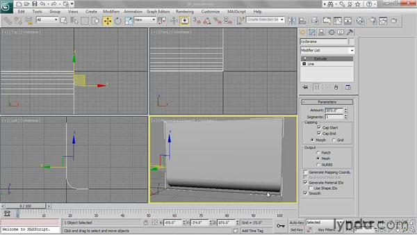 Extruding shapes: 3ds Max 2011 Essential Training