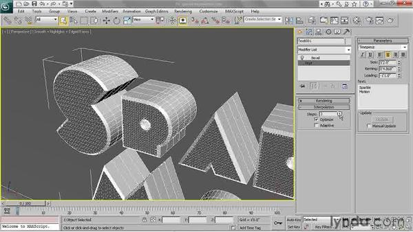 Adjusting spline interpolation: 3ds Max 2011 Essential Training