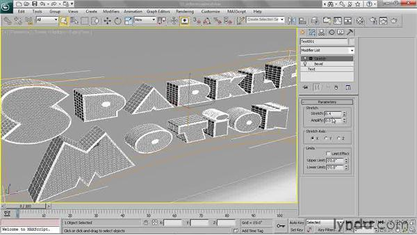 Deforming beveled objects: 3ds Max 2011 Essential Training