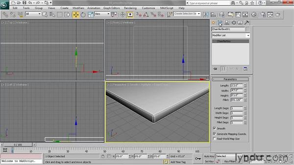 Smoothing edges: 3ds Max 2011 Essential Training