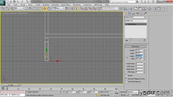 Grouping objects: 3ds Max 2011 Essential Training