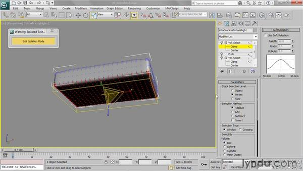 Removing polygons with Delete Mesh: 3ds Max 2011 Essential Training