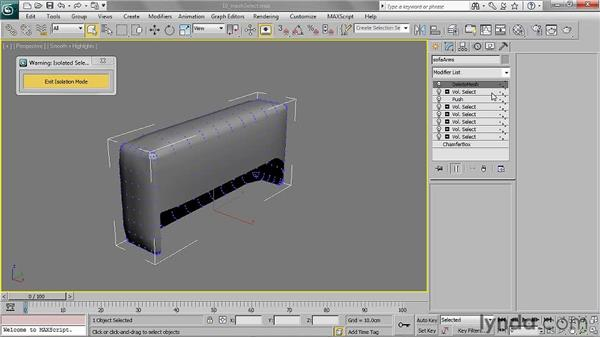 Clearing a sub-object selection with Mesh Select: 3ds Max 2011 Essential Training