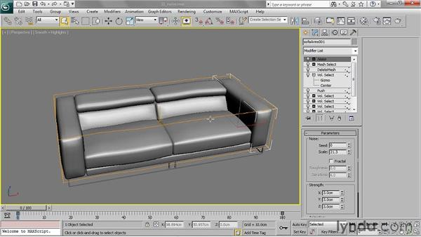 Adding randomness with the Noise Modifier: 3ds Max 2011 Essential Training