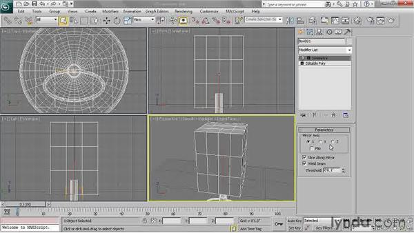 Using the Symmetry Modifier: 3ds Max 2011 Essential Training