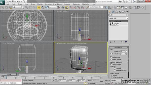 Working with TurboSmooth: 3ds Max 2011 Essential Training