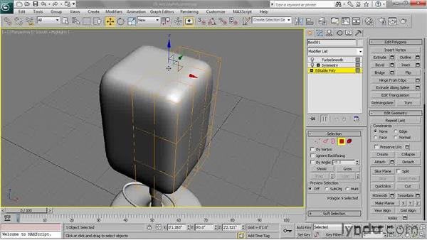 Extruding polygons: 3ds Max 2011 Essential Training