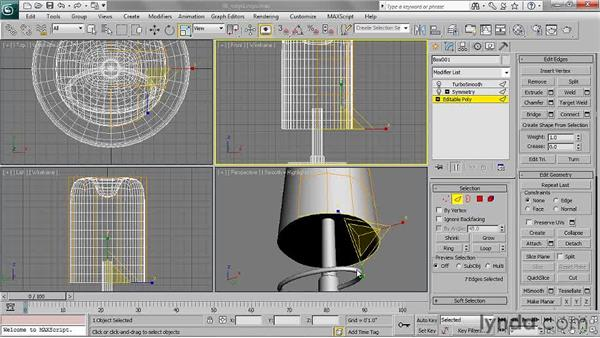 Editing edge loops: 3ds Max 2011 Essential Training