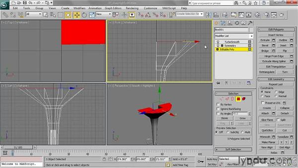 Shaping the model: 3ds Max 2011 Essential Training