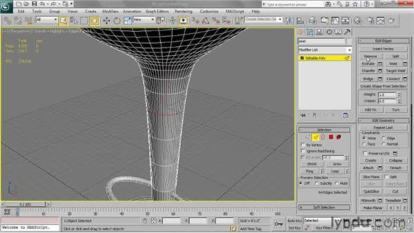 Optimizing polygon Level of Detail: 3ds Max 2011 Essential Training
