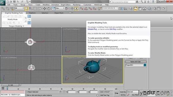 Understanding the graphite tools within Editable Poly: 3ds Max 2011 Essential Training