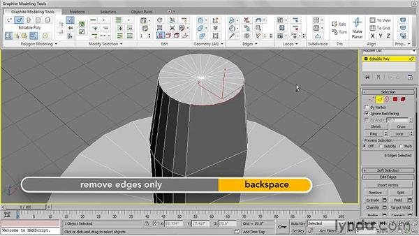Adjusting detail with Remove and Cut: 3ds Max 2011 Essential Training