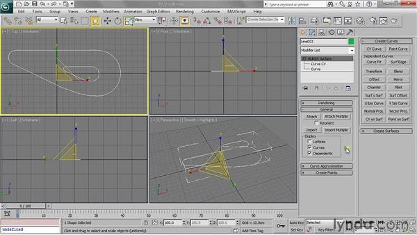Creating a U-loft surface: 3ds Max 2011 Essential Training