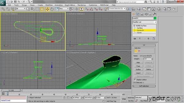 Editing curves and surfaces: 3ds Max 2011 Essential Training