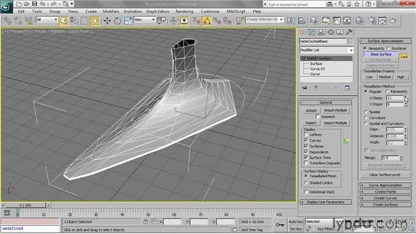 Setting surface approximation: 3ds Max 2011 Essential Training