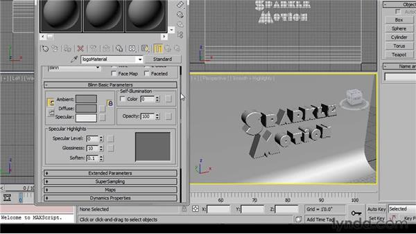Using the Material Editor: 3ds Max 2011 Essential Training