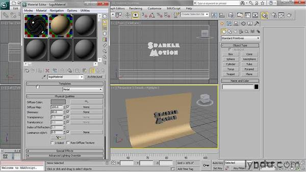 Choosing a material type: 3ds Max 2011 Essential Training
