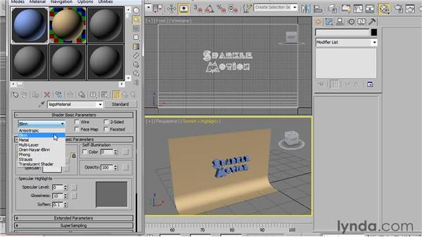 Choosing a shader type: 3ds Max 2011 Essential Training