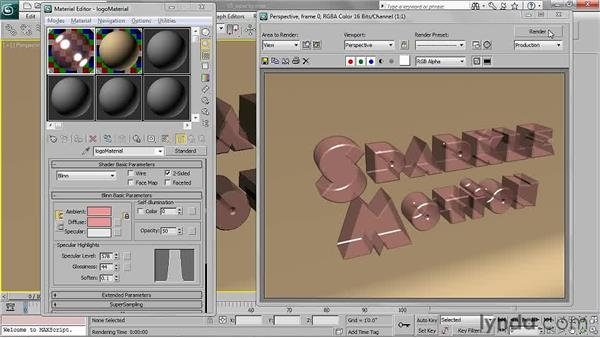 Setting opacity: 3ds Max 2011 Essential Training