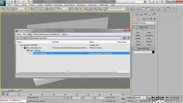 Tracking scene assets: 3ds Max 2011 Essential Training