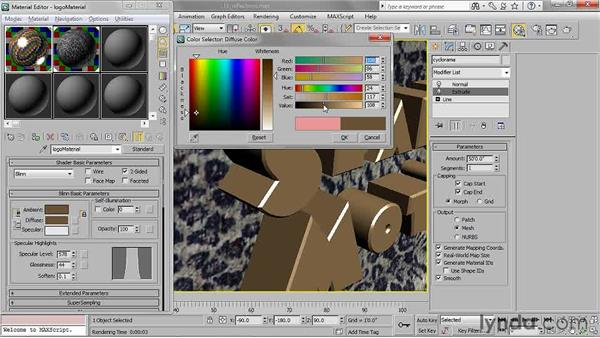 Adding reflections with a Raytrace map: 3ds Max 2011 Essential Training