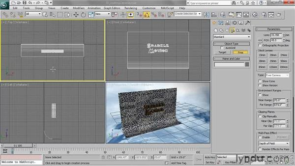 Creating cameras: 3ds Max 2011 Essential Training