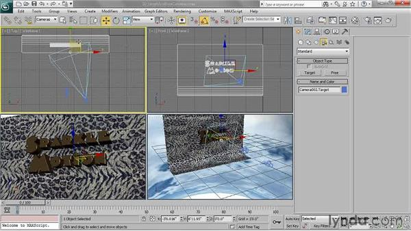 Understanding target and free cameras: 3ds Max 2011 Essential Training