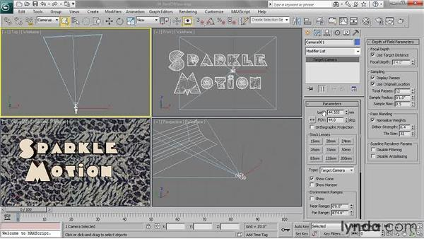 Adjusting the field of view: 3ds Max 2011 Essential Training