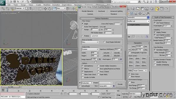 Understanding aspect ratio: 3ds Max 2011 Essential Training