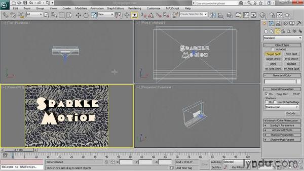 Creating a target spotlight: 3ds Max 2011 Essential Training