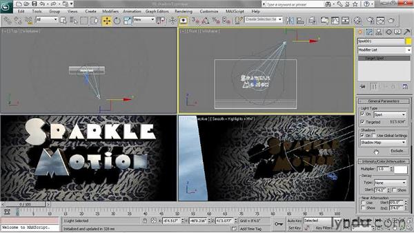 Choosing a shadow type: 3ds Max 2011 Essential Training
