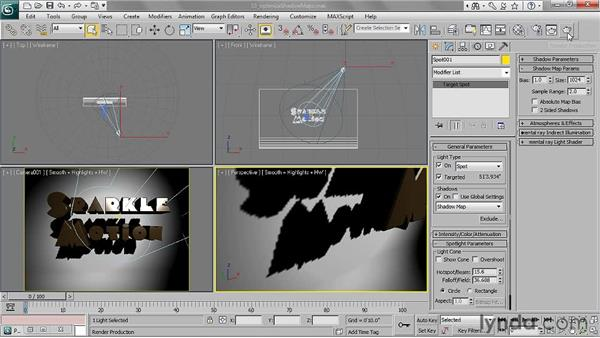 Optimizing shadow maps: 3ds Max 2011 Essential Training