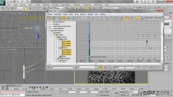 Working in the dope sheet: 3ds Max 2011 Essential Training