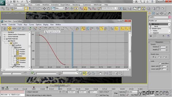 Editing function curves: 3ds Max 2011 Essential Training