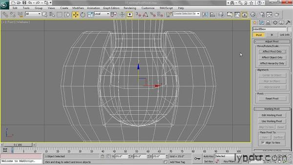 Editing pivot points: 3ds Max 2011 Essential Training