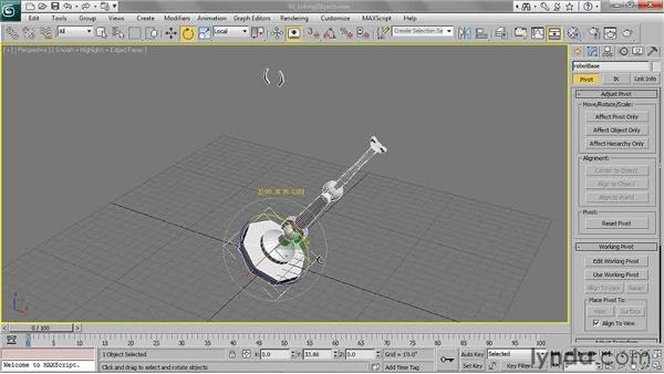 Linking objects: 3ds Max 2011 Essential Training