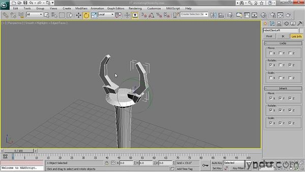 Animating a hierarchy: 3ds Max 2011 Essential Training