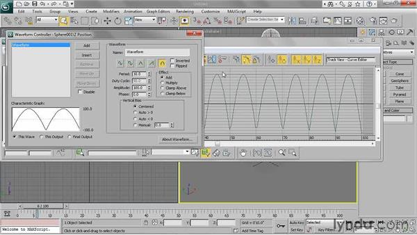 Understanding controllers: 3ds Max 2011 Essential Training