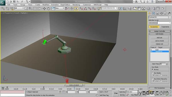 Using the Motion panel: 3ds Max 2011 Essential Training